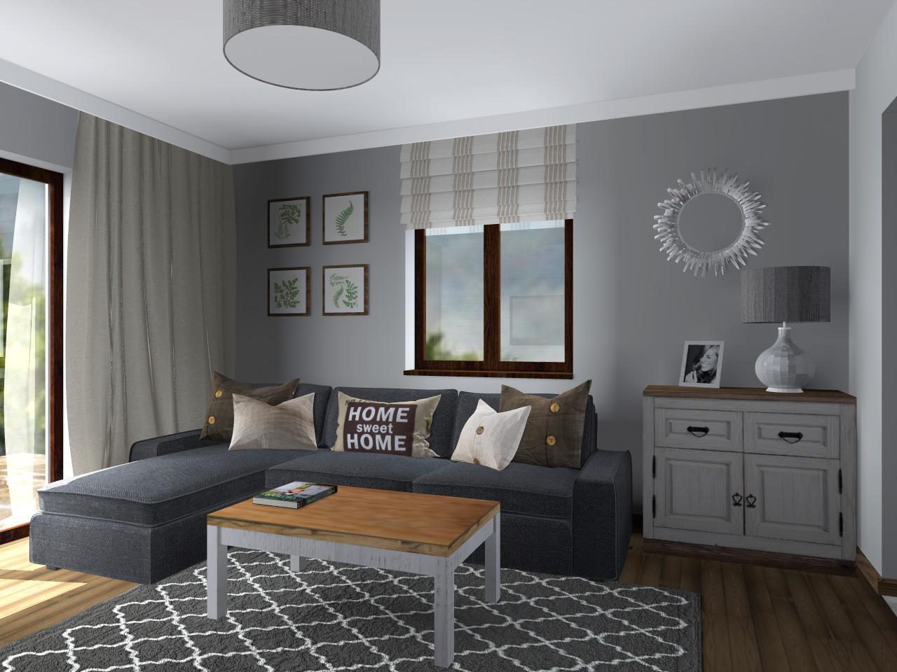 kuchnia i salon su kowice 30 m2. Black Bedroom Furniture Sets. Home Design Ideas